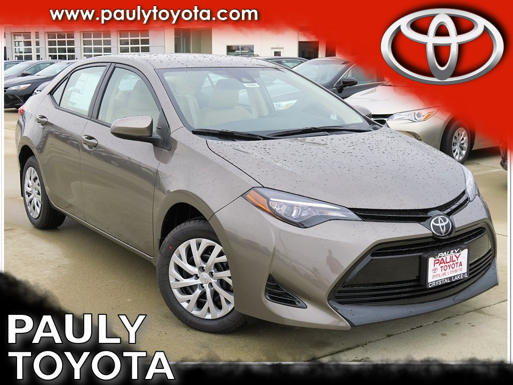 New 2017 Toyota Corolla Le 4d Sedan In Crystal Lake