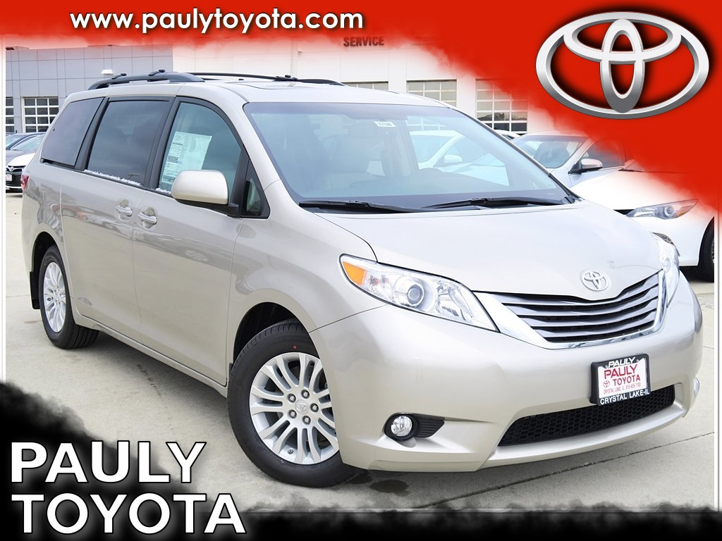 new 2017 toyota sienna xle 4d passenger van in crystal lake s27189 pauly toyota. Black Bedroom Furniture Sets. Home Design Ideas